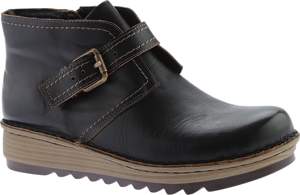 Women's Naot Luisia Ankle Boot, Volcanic Brown Leather, large, image 1