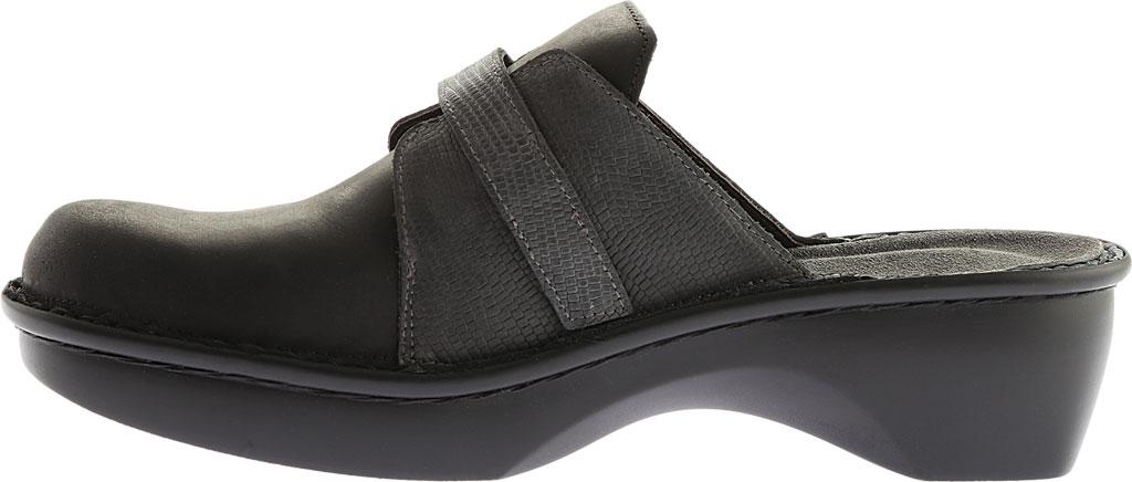Women's Naot Avignon Clog, Oily Coal/Reptile Gray Leather/Nubuck, large, image 3