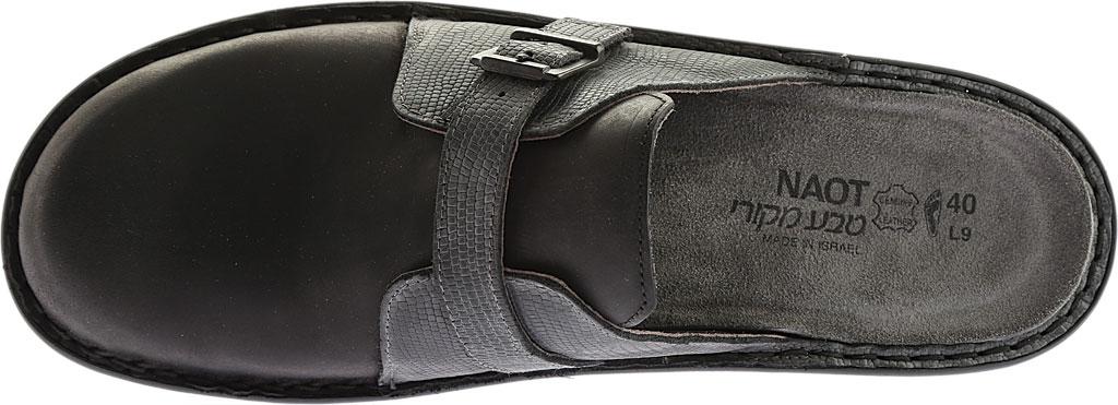 Women's Naot Avignon Clog, Oily Coal/Reptile Gray Leather/Nubuck, large, image 5