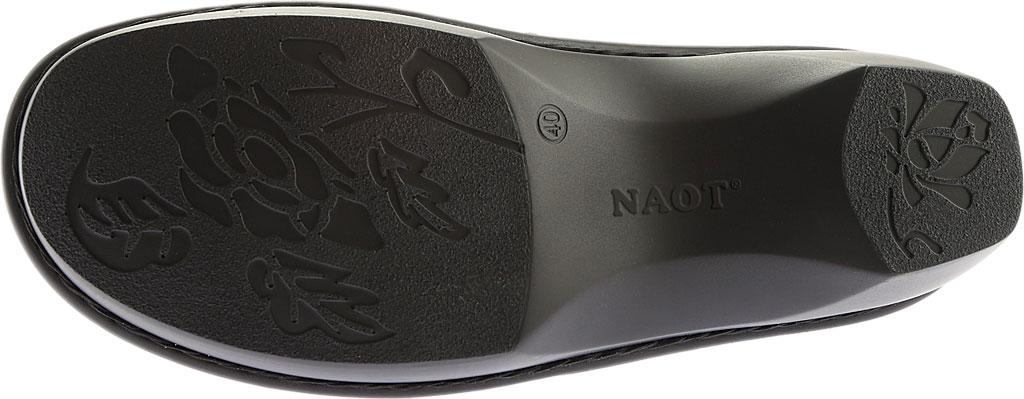 Women's Naot Avignon Clog, Oily Coal/Reptile Gray Leather/Nubuck, large, image 6