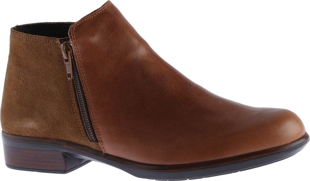 Women's Naot Helm Ankle Boot, Maple Brown/Desert Suede Leather/Suede, large, image 1