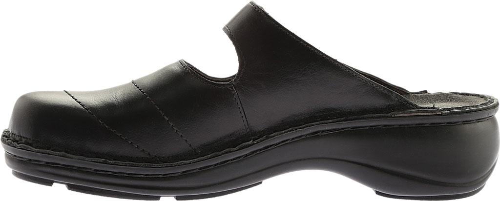 Women's Naot Hibiscus Clog, Black Madras Leather, large, image 3