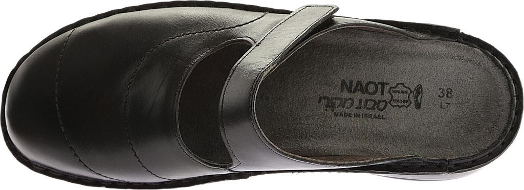 Women's Naot Hibiscus Clog, Black Madras Leather, large, image 5