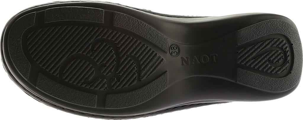 Women's Naot Hibiscus Clog, Black Madras Leather, large, image 6