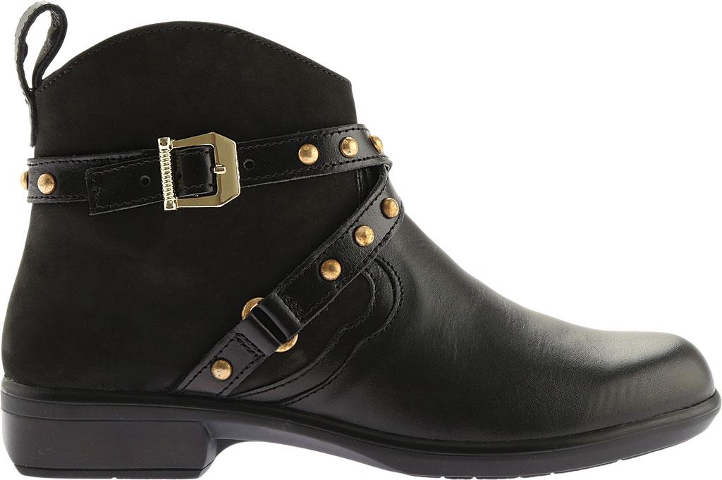 Women's Naot Taku Ankle Boot, Black Raven/Black Velvet Nubuck/Black Madras, large, image 2