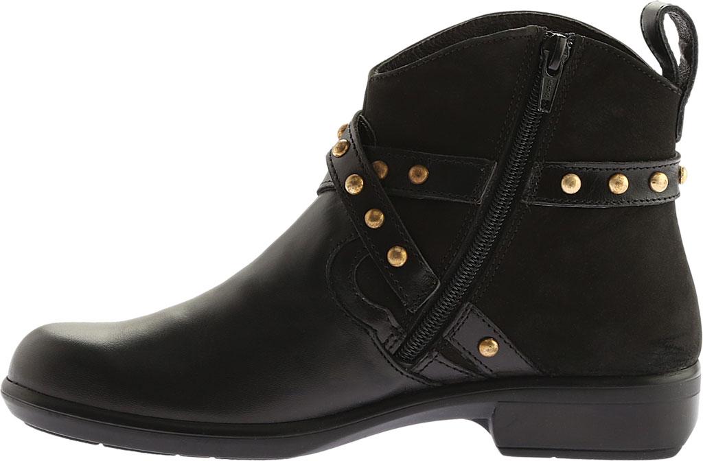 Women's Naot Taku Ankle Boot, Black Raven/Black Velvet Nubuck/Black Madras, large, image 3