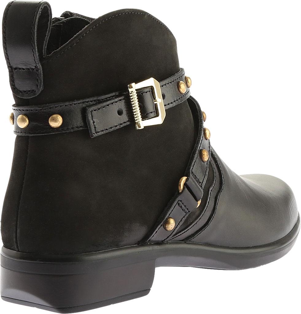 Women's Naot Taku Ankle Boot, Black Raven/Black Velvet Nubuck/Black Madras, large, image 4