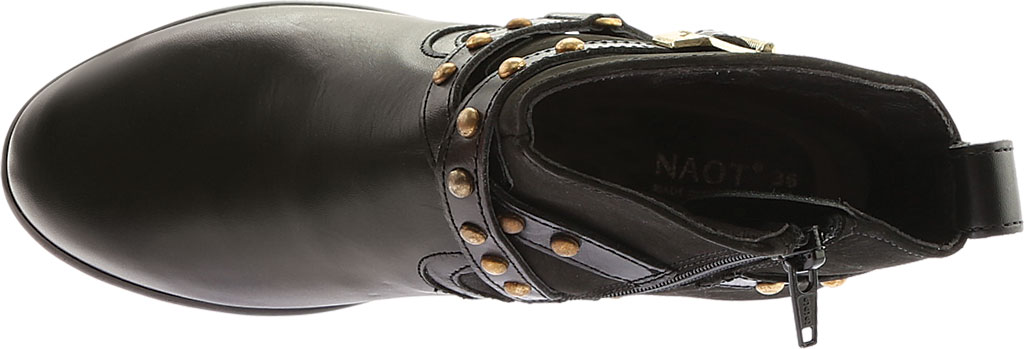 Women's Naot Taku Ankle Boot, Black Raven/Black Velvet Nubuck/Black Madras, large, image 5