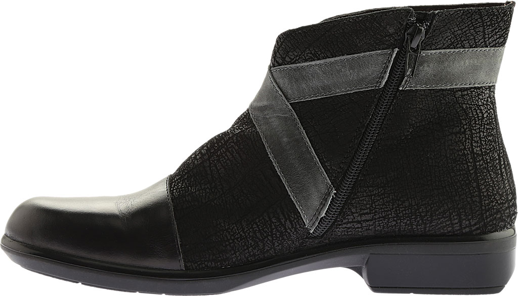 Women's Naot Boreas Ankle Boot, Black Madras/Black Crackle/Smoke Leather, large, image 3