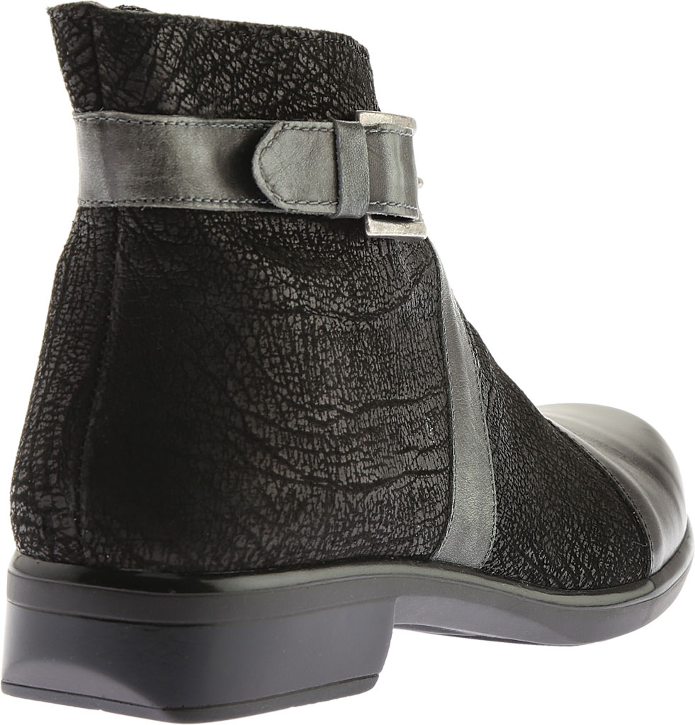 Women's Naot Boreas Ankle Boot, Black Madras/Black Crackle/Smoke Leather, large, image 4
