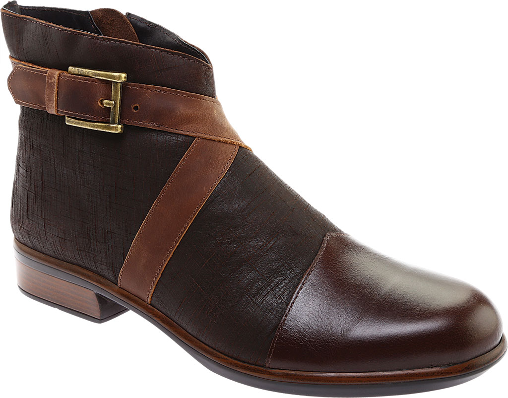Women's Naot Boreas Ankle Boot, Walnut/Mine Brown/Saddle Leather, large, image 1