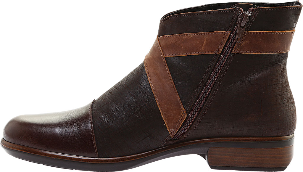 Women's Naot Boreas Ankle Boot, Walnut/Mine Brown/Saddle Leather, large, image 3