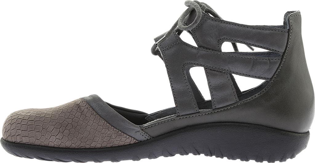 Women's Naot Kata Gladiator Sandal, Gray Iguana/Shadow Gray Nubuck/Tin Gray Leather, large, image 3