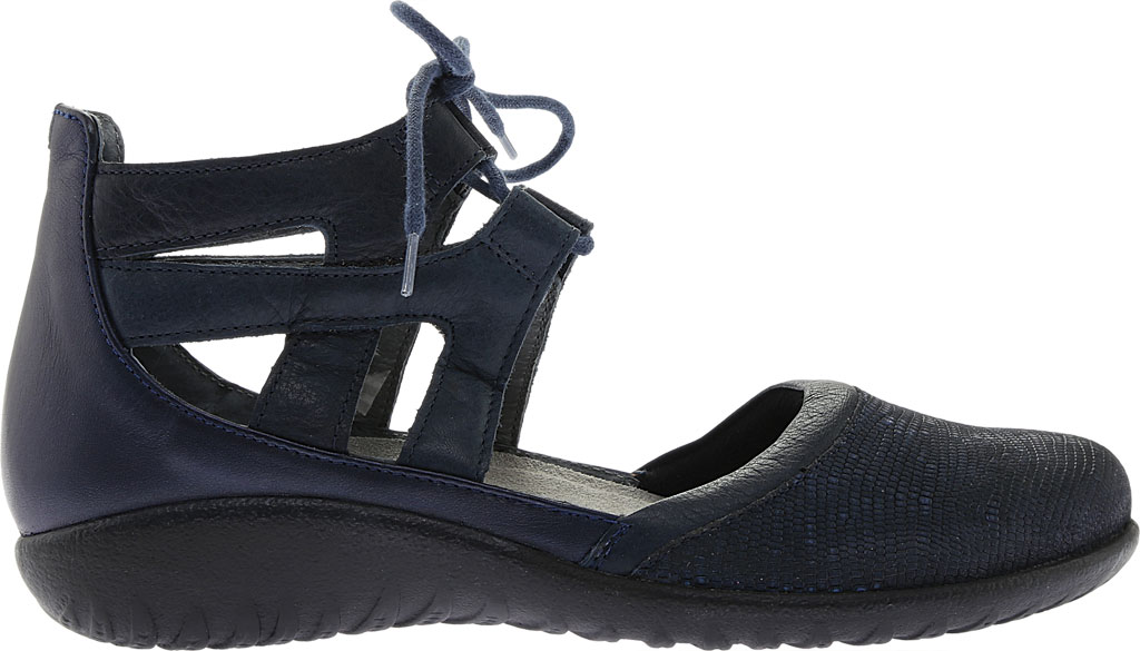 Women's Naot Kata Gladiator Sandal, Navy Reptile Leather/Ink Leather/Polar Sea Leather, large, image 2