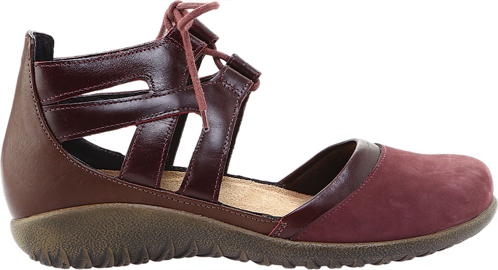 Women's Naot Kata Gladiator Sandal, Violet/Bordeaux/Toffee Brown Nubuck/Leather, large, image 2