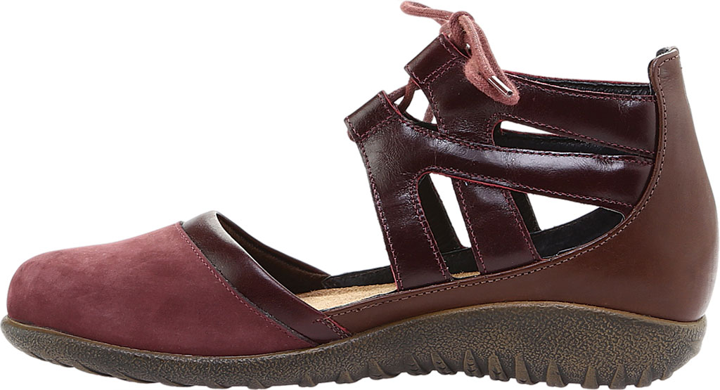 Women's Naot Kata Gladiator Sandal, Violet/Bordeaux/Toffee Brown Nubuck/Leather, large, image 3