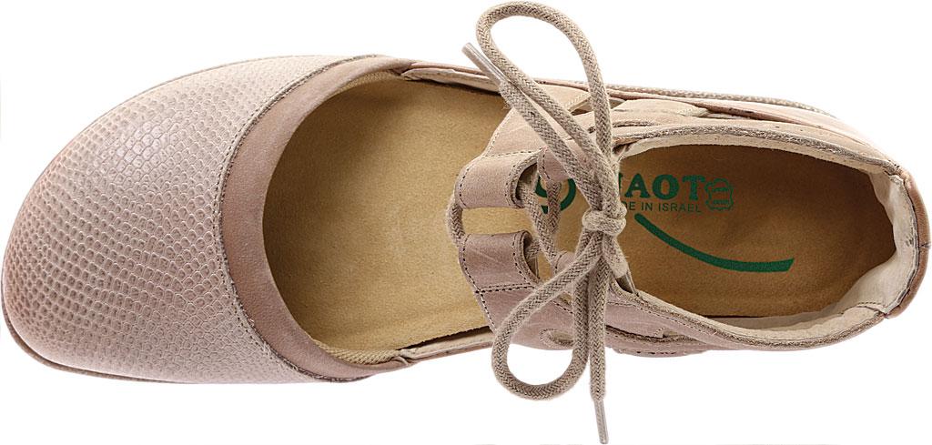 Women's Naot Kata Gladiator Sandal, Beige Lizard Print/Khaki/Ariztan Nubuck Leather, large, image 5