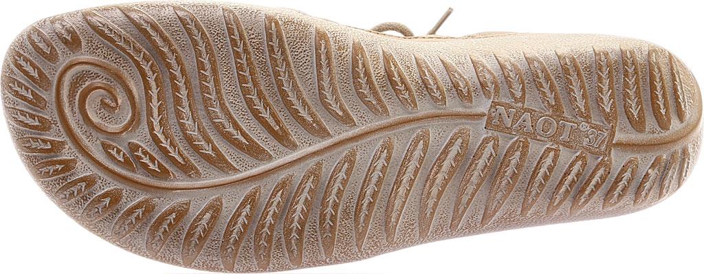 Women's Naot Kata Gladiator Sandal, Beige Lizard Print/Khaki/Ariztan Nubuck Leather, large, image 6