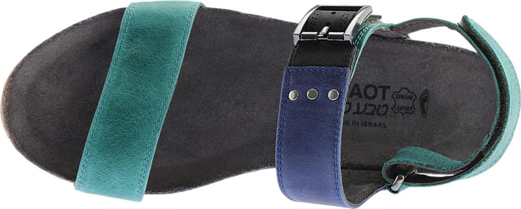 Women's Naot Alpha Wedge Sandal, Oily Emerald/Blue/Coal Nubuck, large, image 5