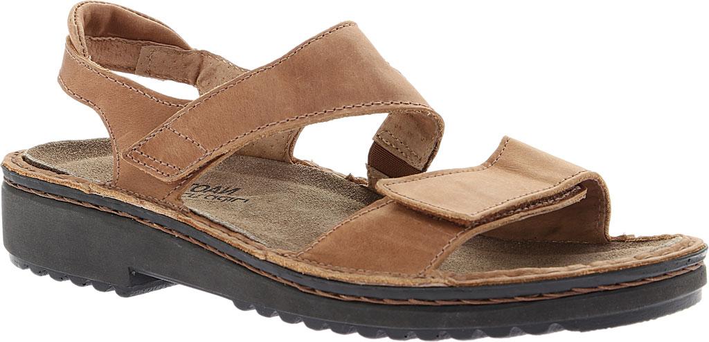Women's Naot Enid Flat Sandal, Latte Brown Leather, large, image 1
