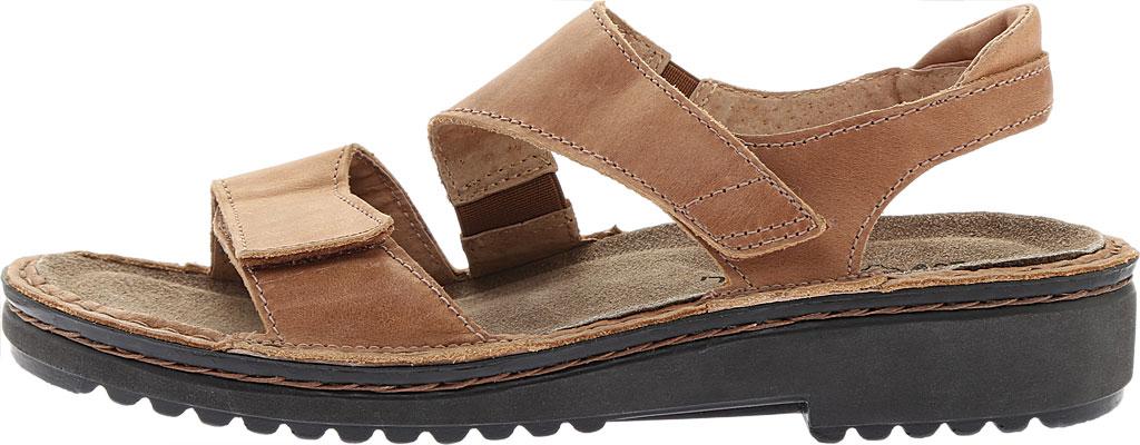 Women's Naot Enid Flat Sandal, Latte Brown Leather, large, image 3