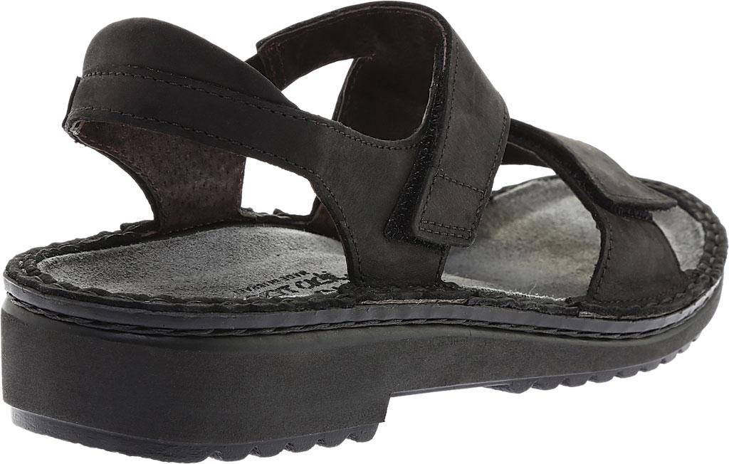 Women's Naot Enid Flat Sandal, Oily Coal Nubuck, large, image 4