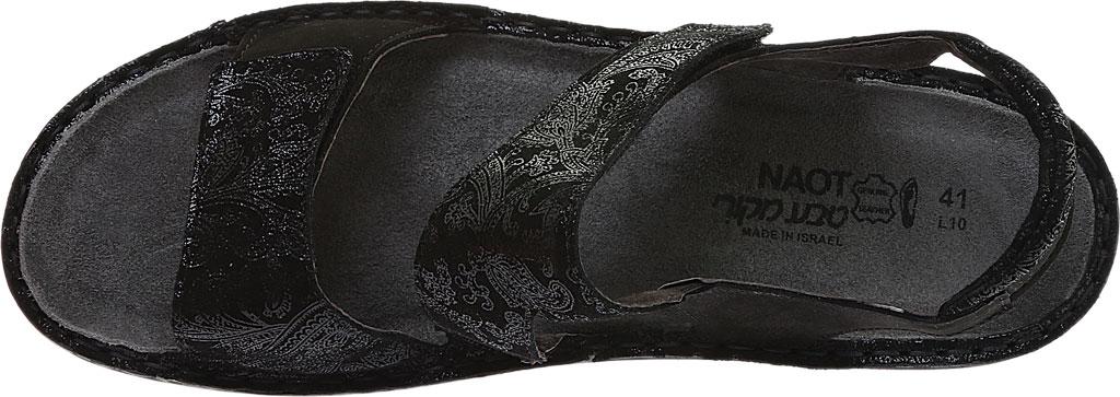 Women's Naot Enid Flat Sandal, Black Lace Nubuck/Black Velvet Nubuck, large, image 5