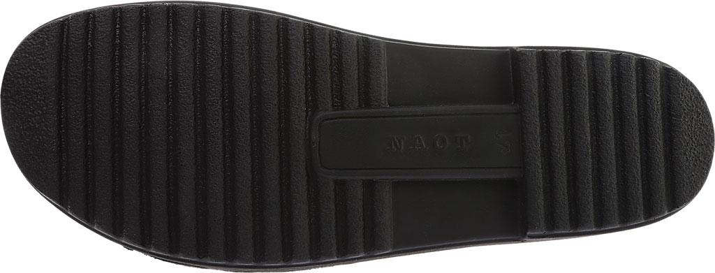 Women's Naot Enid Flat Sandal, Black Lace Nubuck/Black Velvet Nubuck, large, image 6