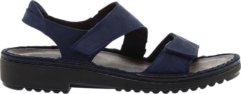 Women's Naot Enid Flat Sandal, Navy Velvet/Nubuck Leather, large, image 2