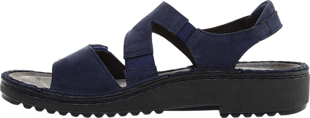 Women's Naot Enid Flat Sandal, Navy Velvet/Nubuck Leather, large, image 3