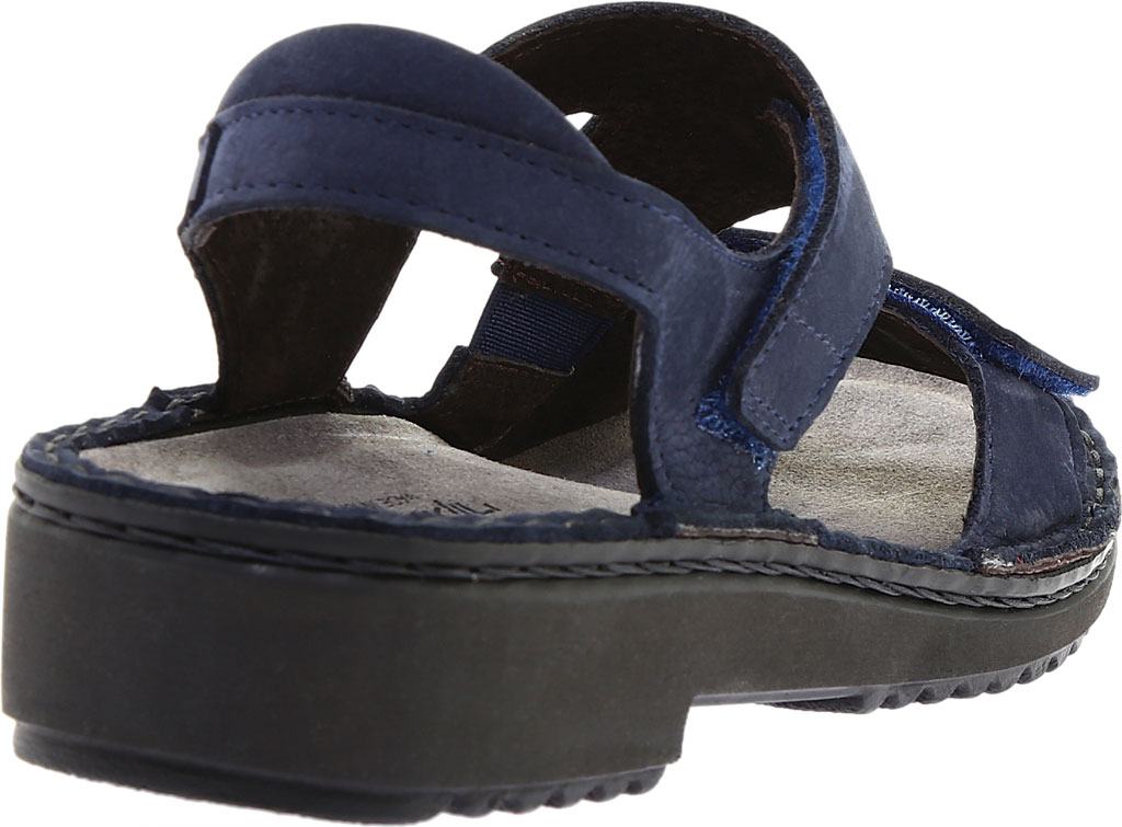 Women's Naot Enid Flat Sandal, Navy Velvet/Nubuck Leather, large, image 4