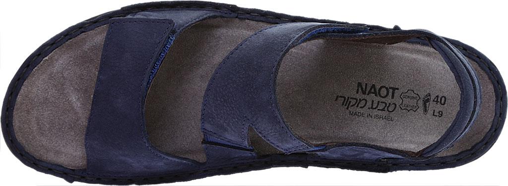 Women's Naot Enid Flat Sandal, Navy Velvet/Nubuck Leather, large, image 5