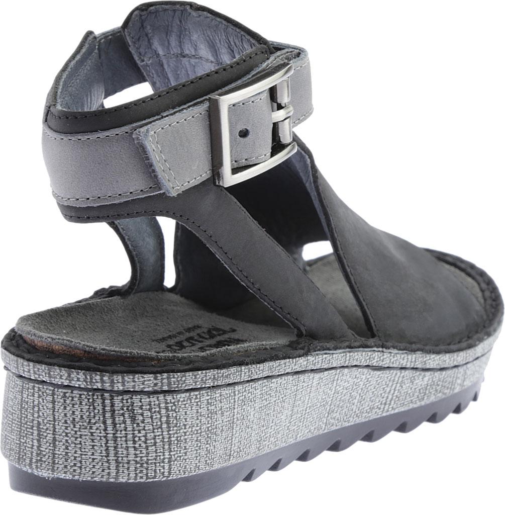Women's Naot Verbena Wedge Sandal, Oily Coal Nubuck/Vintage Slate Leather, large, image 4