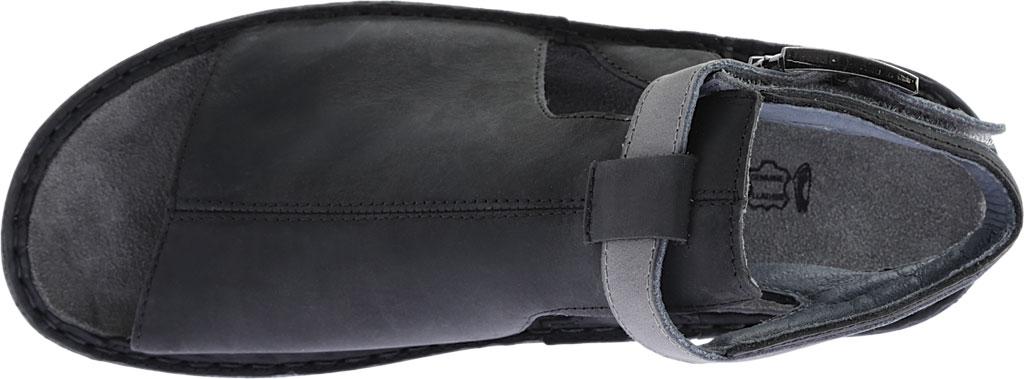 Women's Naot Verbena Wedge Sandal, Oily Coal Nubuck/Vintage Slate Leather, large, image 5