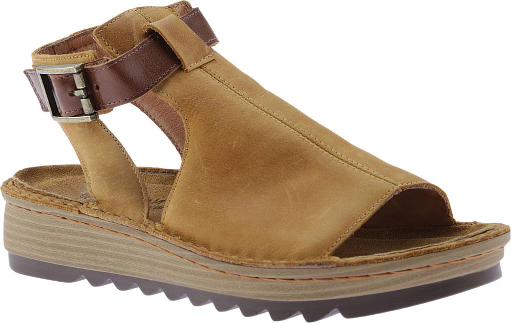 Women's Naot Verbena Wedge Sandal, Oily Dune Nubuck/Maple Brown Leather, large, image 1