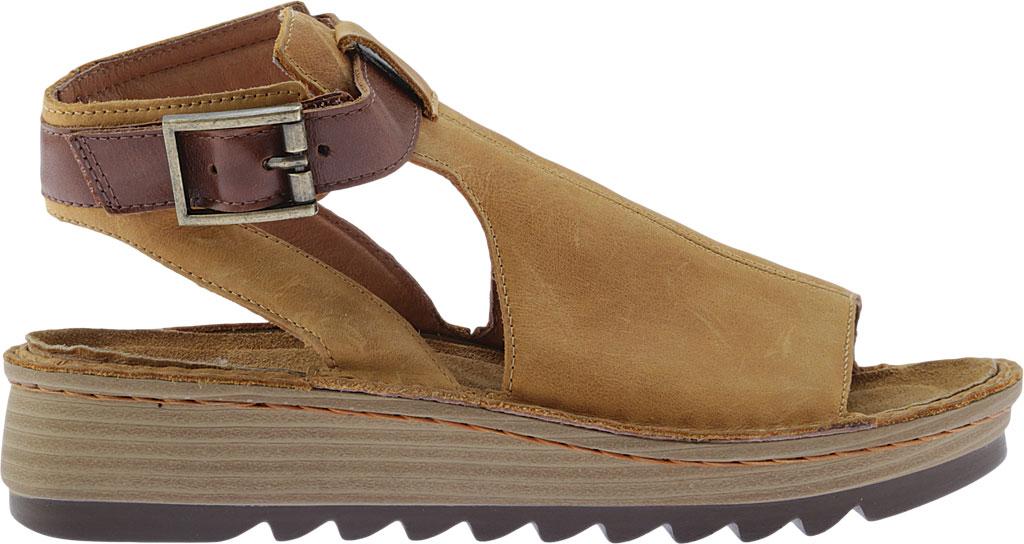 Women's Naot Verbena Wedge Sandal, Oily Dune Nubuck/Maple Brown Leather, large, image 2