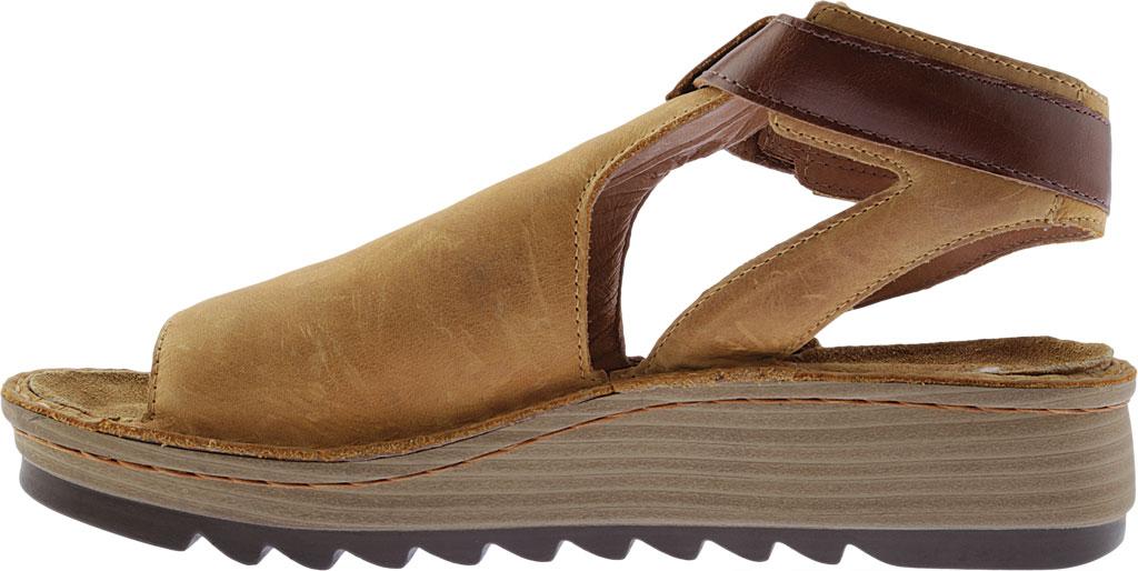 Women's Naot Verbena Wedge Sandal, Oily Dune Nubuck/Maple Brown Leather, large, image 3