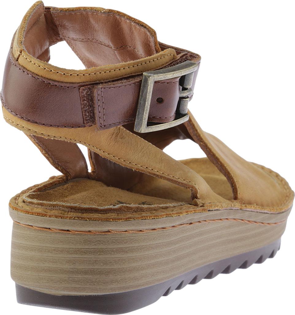 Women's Naot Verbena Wedge Sandal, Oily Dune Nubuck/Maple Brown Leather, large, image 4