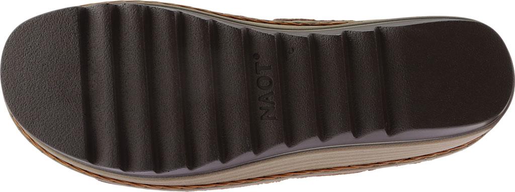 Women's Naot Verbena Wedge Sandal, Oily Dune Nubuck/Maple Brown Leather, large, image 6