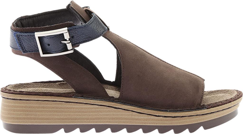 Women's Naot Verbena Wedge Sandal, Coffee/Ink Leather/Nubuck, large, image 2