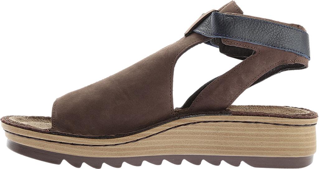 Women's Naot Verbena Wedge Sandal, Coffee/Ink Leather/Nubuck, large, image 3