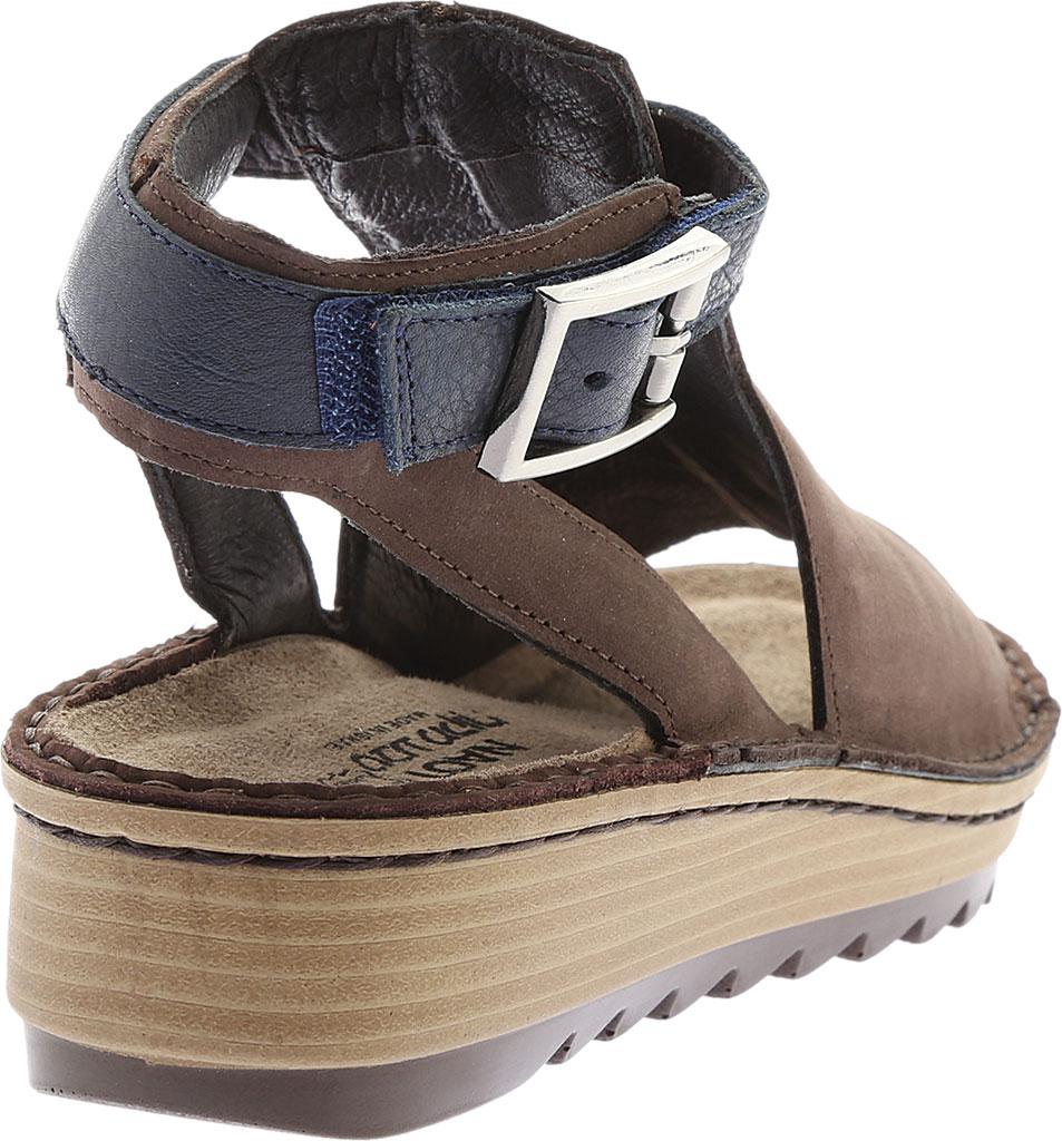 Women's Naot Verbena Wedge Sandal, Coffee/Ink Leather/Nubuck, large, image 4