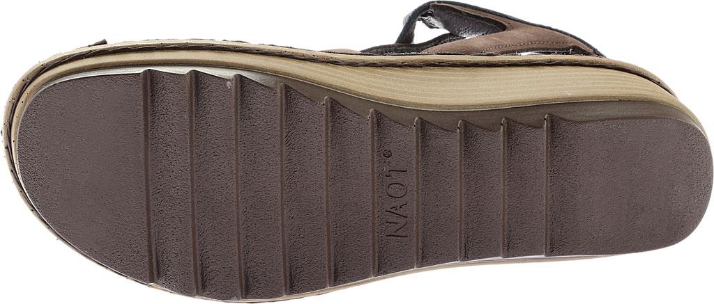Women's Naot Verbena Wedge Sandal, Coffee/Ink Leather/Nubuck, large, image 6