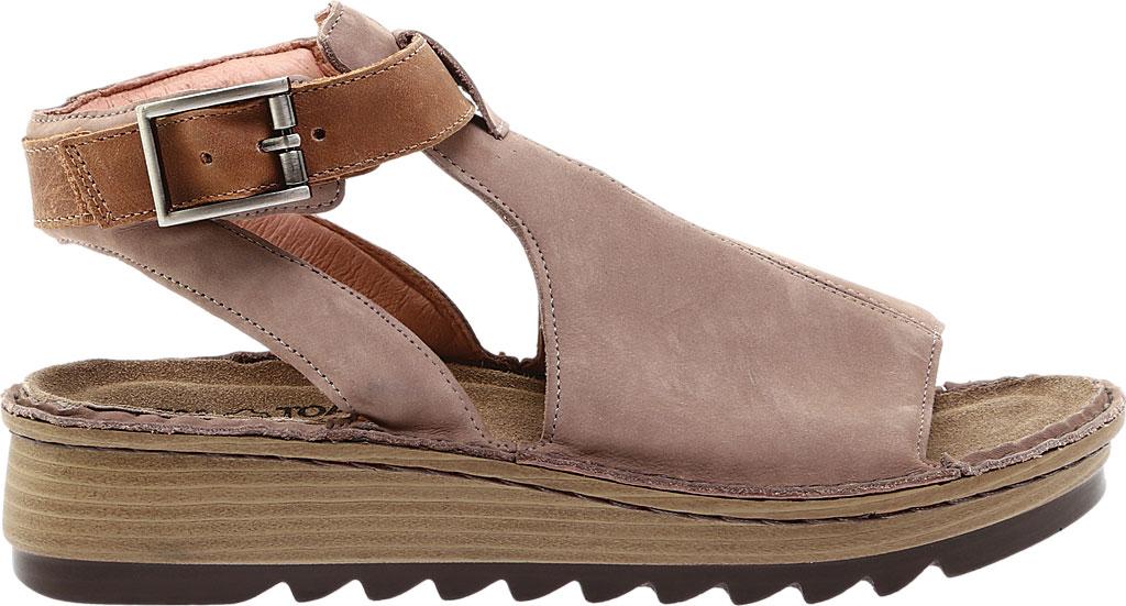 Women's Naot Verbena Wedge Sandal, Stone/Latte Brown Nubuck/Leather, large, image 2