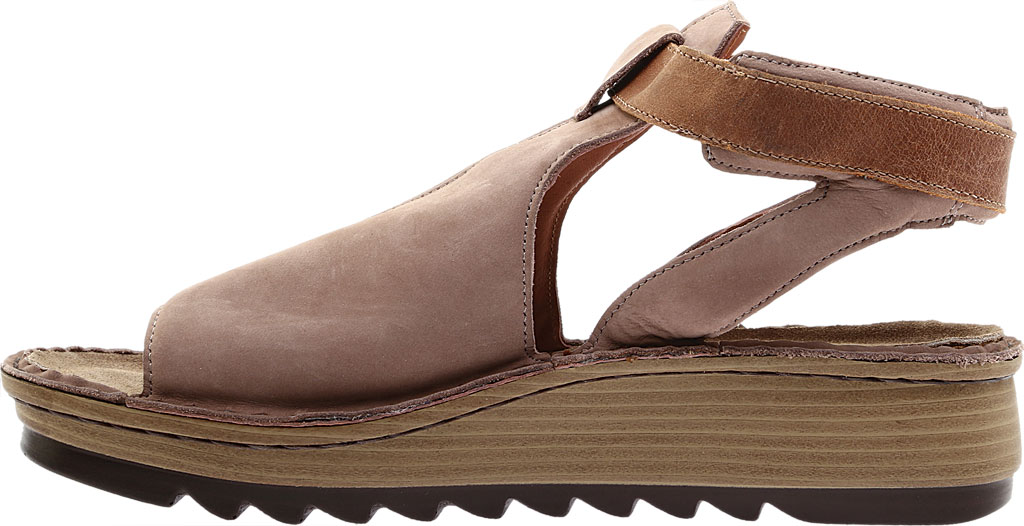 Women's Naot Verbena Wedge Sandal, Stone/Latte Brown Nubuck/Leather, large, image 3