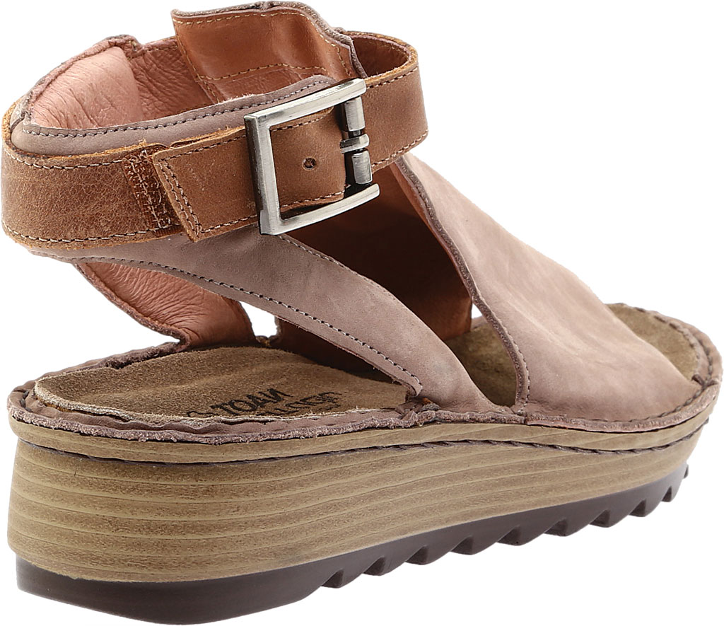 Women's Naot Verbena Wedge Sandal, Stone/Latte Brown Nubuck/Leather, large, image 4