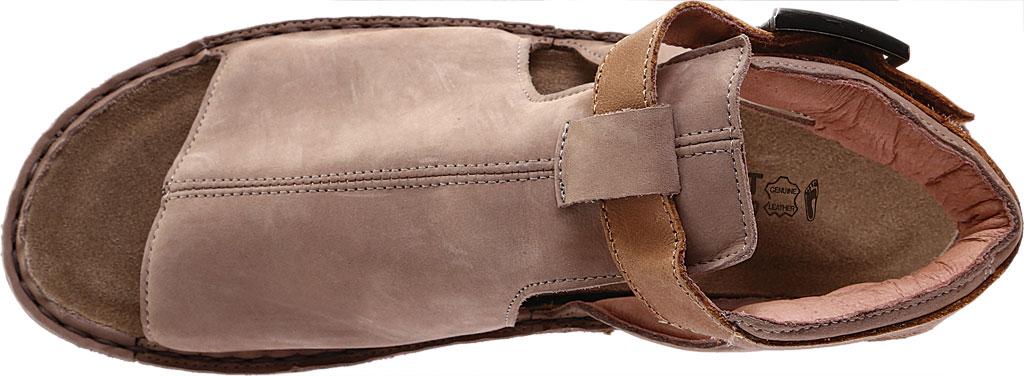 Women's Naot Verbena Wedge Sandal, Stone/Latte Brown Nubuck/Leather, large, image 5