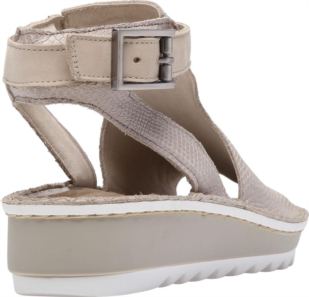 Women's Naot Verbena Wedge Sandal, Beige Lizard Leather/Beige Nubuck, large, image 4