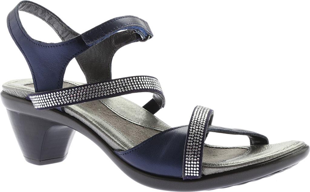 Women's Naot Innovate Heeled Sandal, Polar Sea Leather/Microfiber, large, image 1