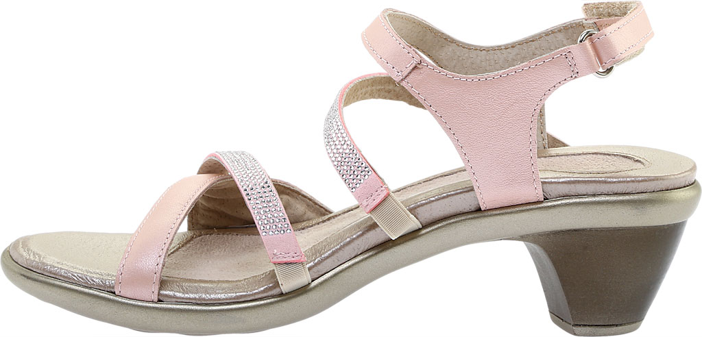 Women's Naot Innovate Heeled Sandal, Pearl Rose/Silver Rivet Leather, large, image 3